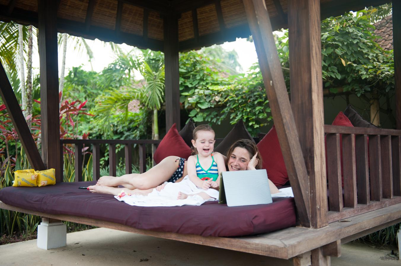 siesta-after-swimming-Bali